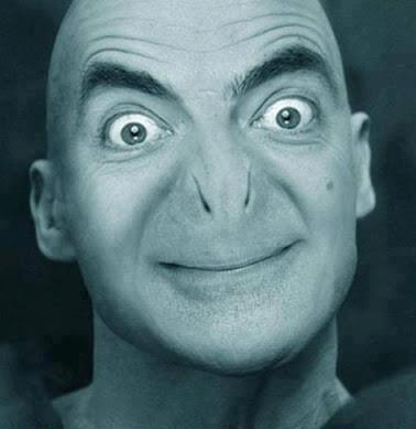 Mr Bean or Voldemort?? :P