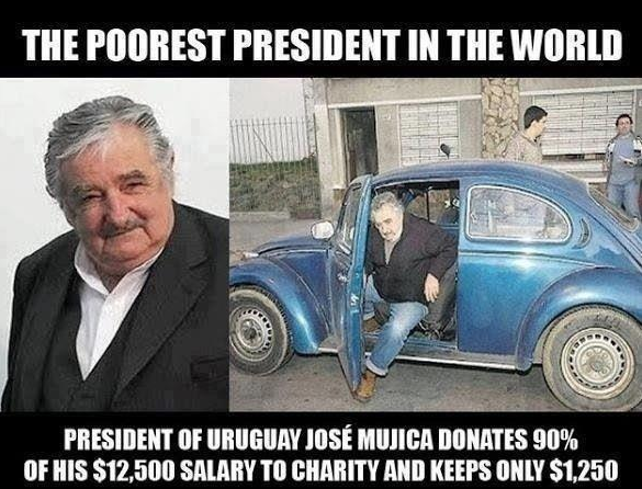 Poorest president in the word