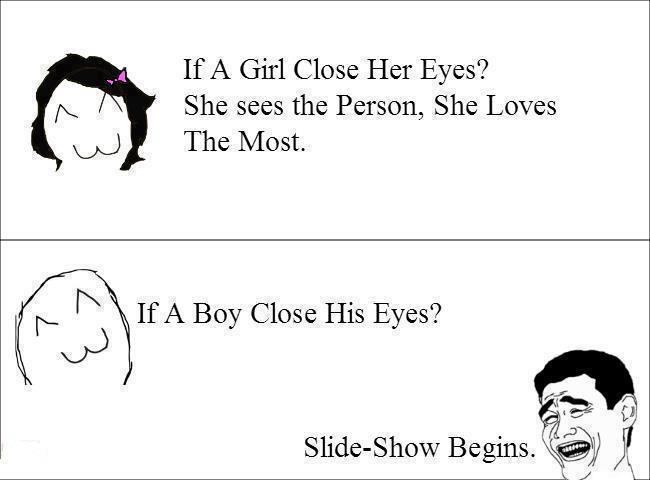 Slide show begins # Close your eyes :)