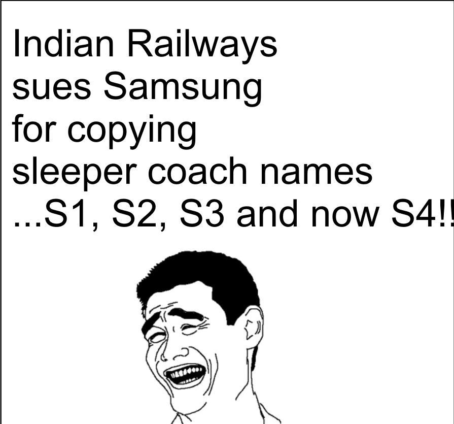 samsung trolled by indian railways :P