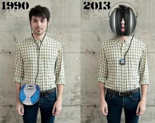 listening music,.. 1990 and 2013