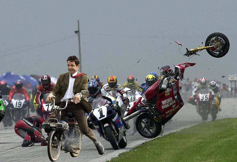 Mr. Bean Motorcycle Race